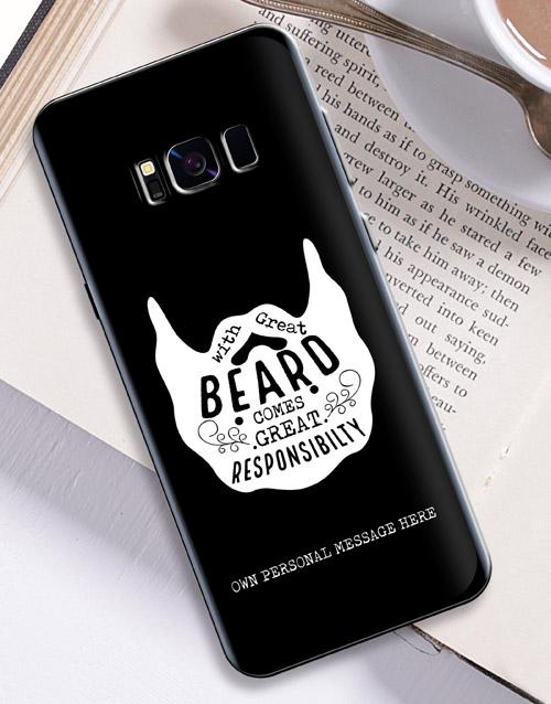 personalised: Personalised Beard Samsung Cover!