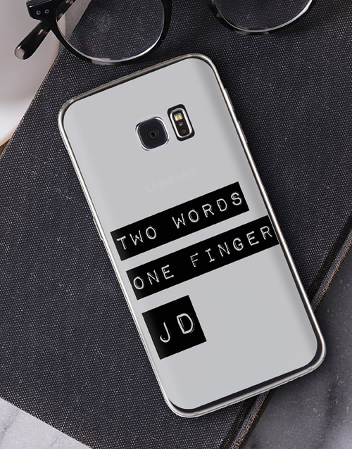personalised: Personalised Two Words Samsung Cover!