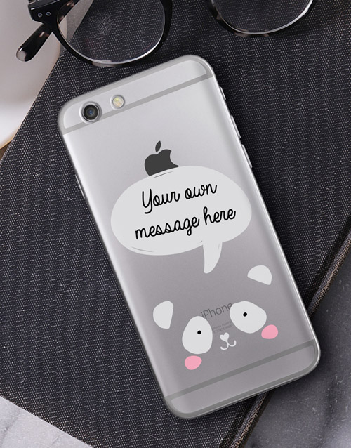 personalised: Personalised Panda iPhone Cover!