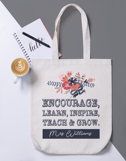 apparel: Personalised Encourage Tote Bag!
