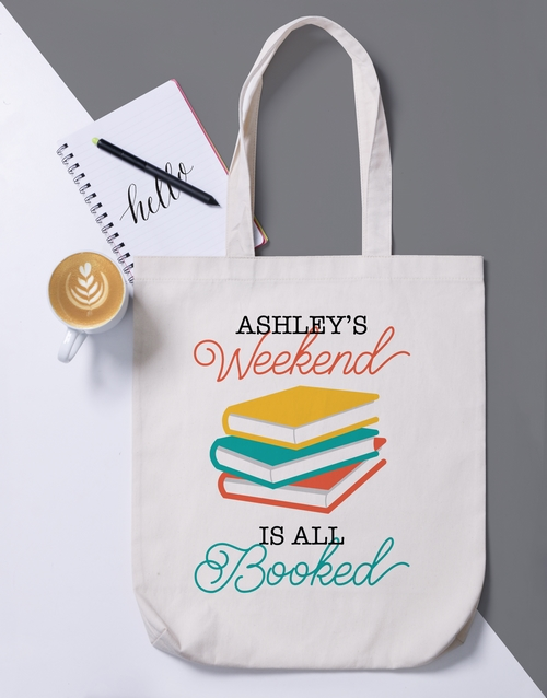 apparel: Personalised Booked Tote Bag!