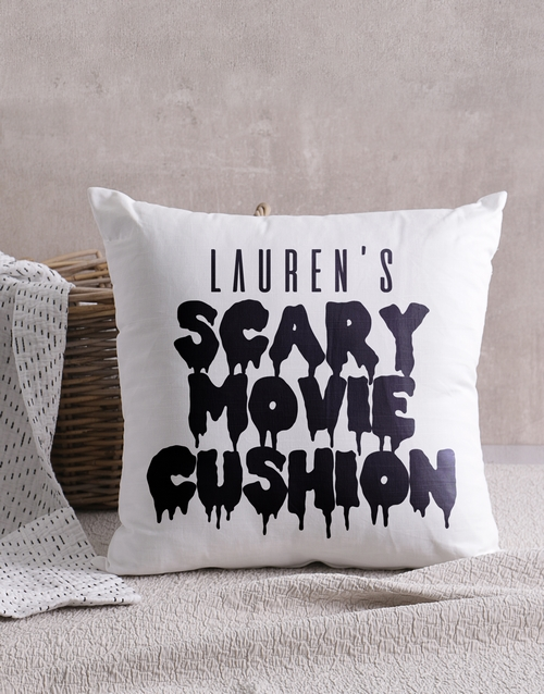 friendship: Personalised Scary Movie Scatter Cushion!