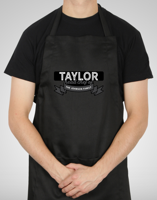 grandparents-day: Personalised Head Chef Apron!