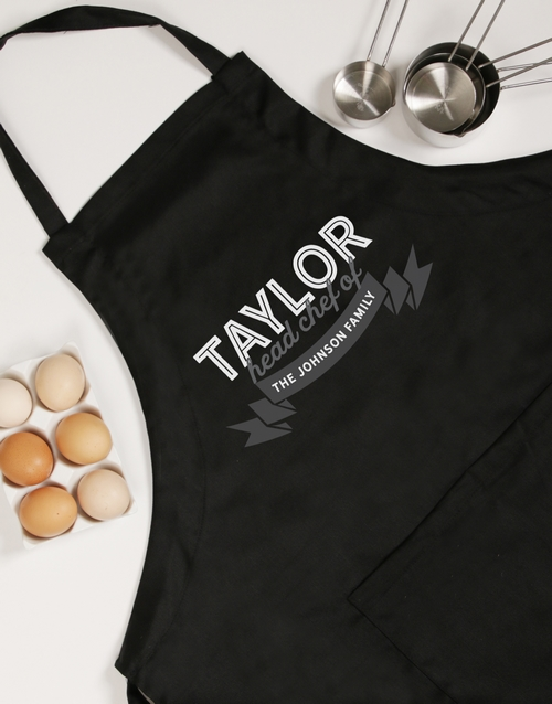 personalised: Personalised Head Chef Apron!