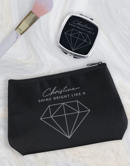 year-end: Personalised Shine Bright Cosmetic Bag!