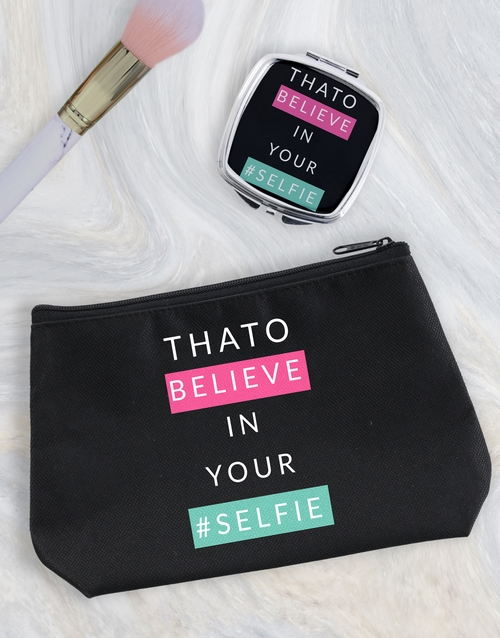 personalised: Personalised Selfie Cosmetic Bag!