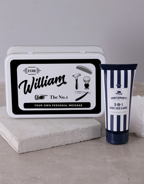 year-end: Personalised Gents Shaving Tin!