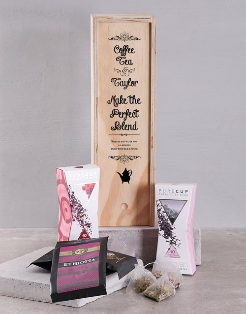 coffee: Personalised Perfect Blend Coffee and Tea Crate!