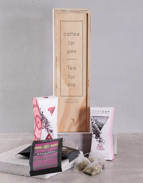 coffee-and-tea: Personalised Coffee and Tea Crate!