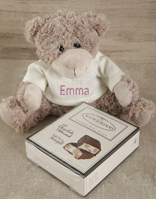 teddy-bears: Personalised Lots of Luck Teddy and Nougat!