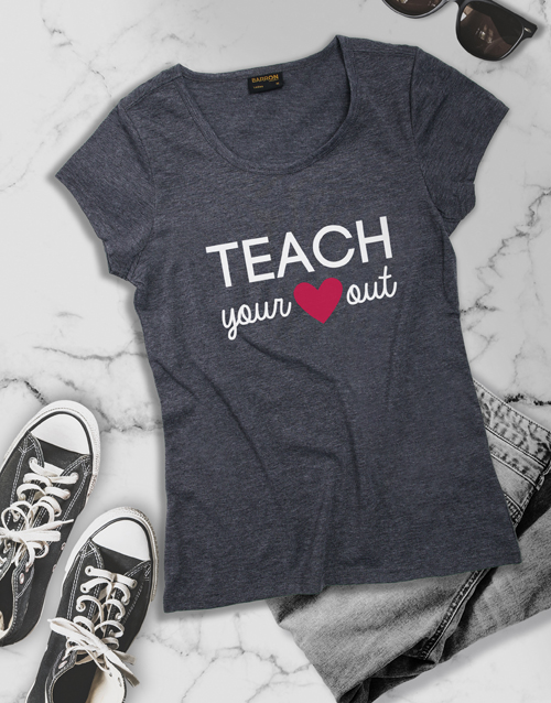 personalised: Teach Your Heart Out Shirt for Ladies!