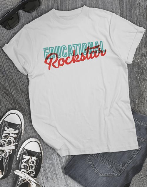 clothing: Educational Rockstar Shirt for Men!