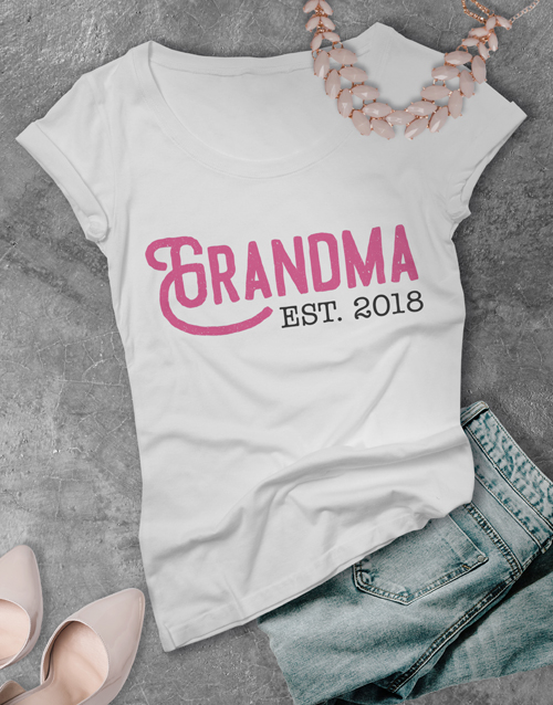 grandparents-day: Personalised Grandma Shirt!