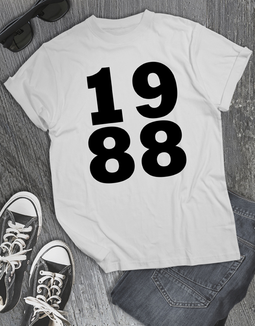 clothing: Personalised 1988 Shirt for Men!