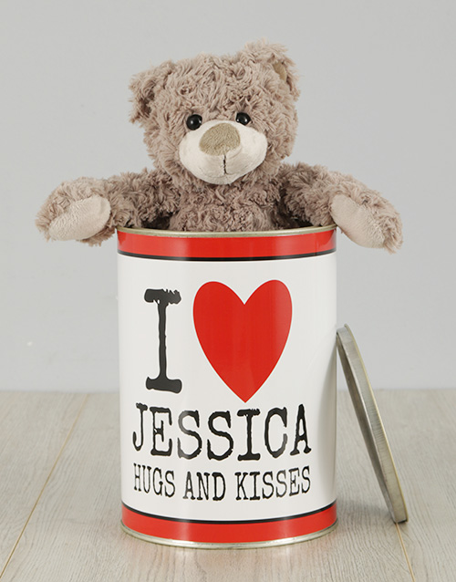 teddy-bears: Personalised Love Cuddles Teddy Tin!