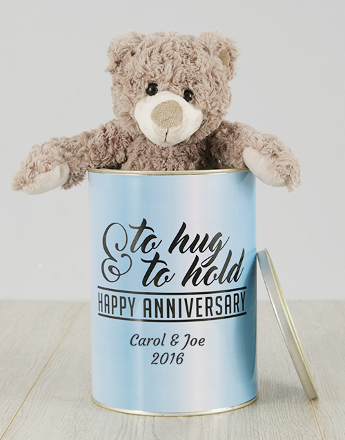 teddy-bears: Personalised Anniversary Teddy in A Tin!