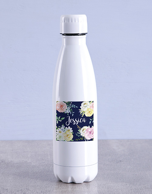 personalised: Personalised Floral Water Bottle!