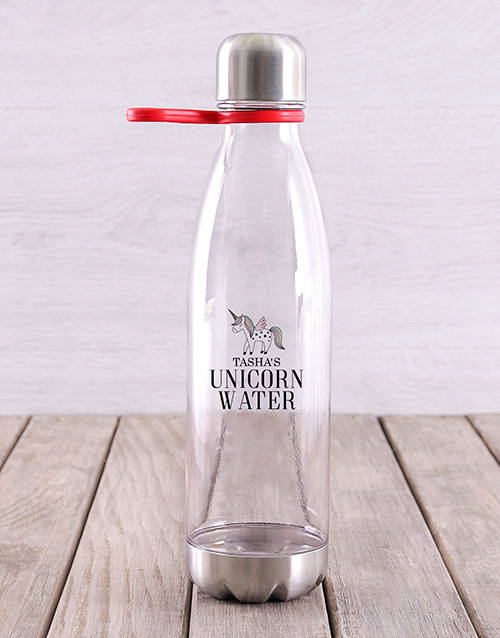 activewear: Personalised Unicorn Water Bottle!