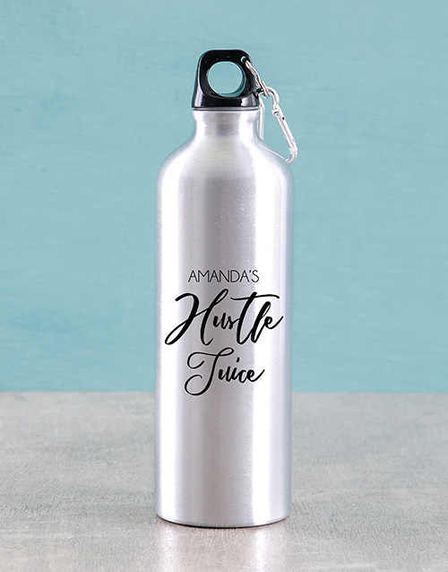 activewear: Personalised Hustle Juice Water Bottle!