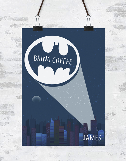 personalised: Personalised Bring Coffee Poster!