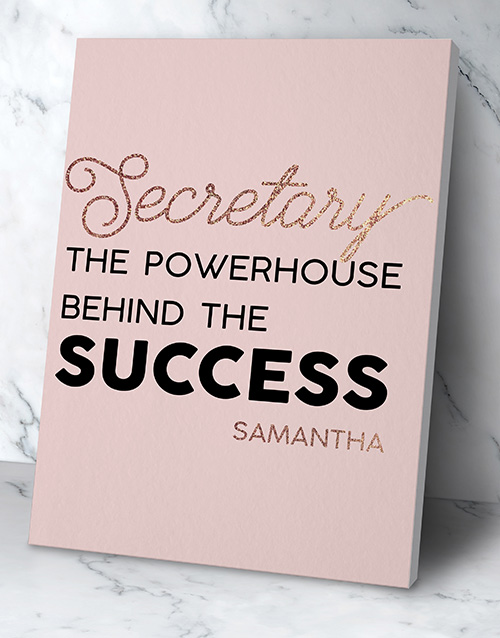 personalised: Personalised Secretary Success Wall Art!