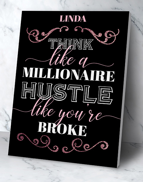 personalised: Personalised Millionaire Hustler Poster!