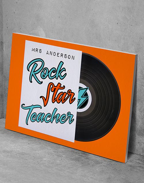 personalised: Personalised Rockstar Teacher Poster !