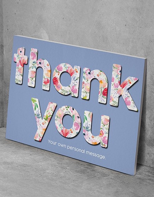 personalised: Personalised Thank You Wall Art!