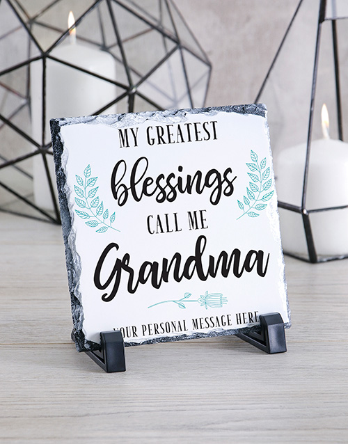 personalised: Personalised Grandma Glass And Stone Tiles!