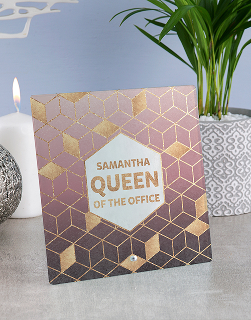 home-decor: Personalised Office Queen Glass And Stone Tiles!