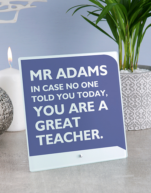 home-decor: Personalised Teacher Glass And Stone Tiles!
