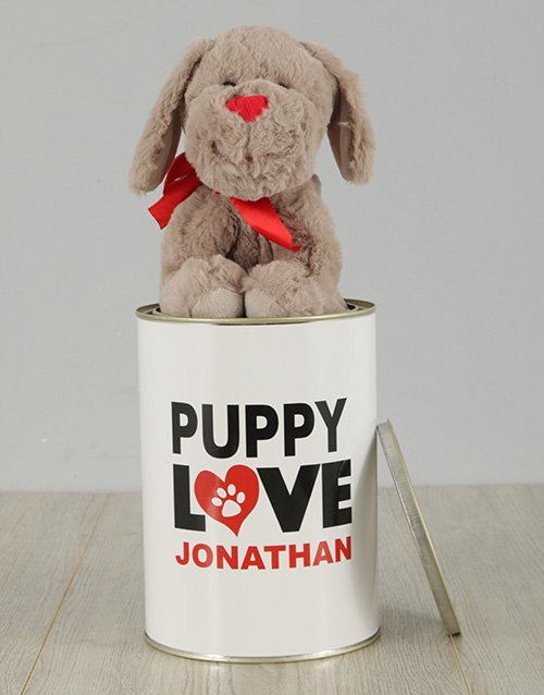 love-and-romance: Personalised Puppy Love Tin!