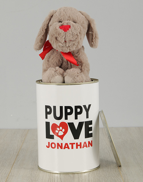 teddy-bears: Personalised Puppy Love Tin!
