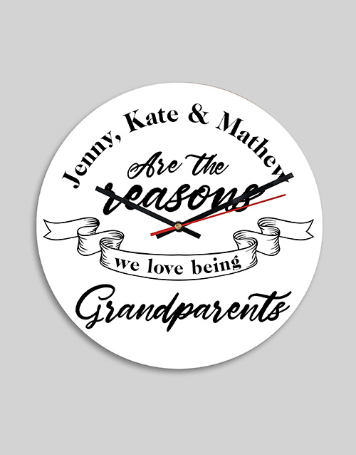 grandparents-day: Personalised Grandparents MDF Clock!