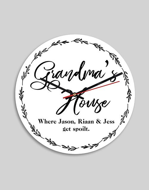 grandparents-day: Personalised Grandmas House MDF Clock!