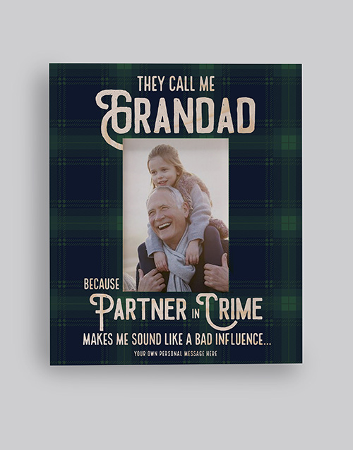 home-decor: Personalised Partner In Crime Photo Frame!