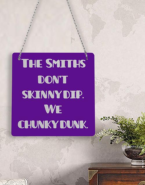 personalised: Personalised Skinny Dip Metal Sign!