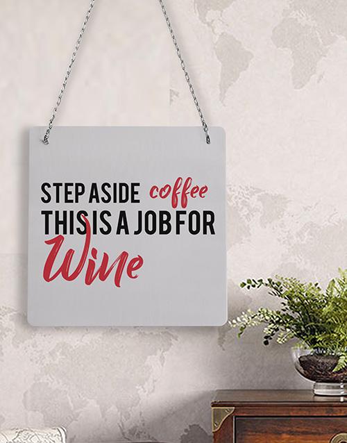 personalised: Personalised Coffee Wine Metal Sign!