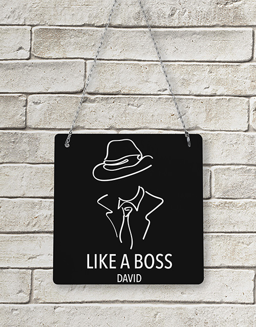 bosses-day: Personalised Like A Boss Metal Sign!