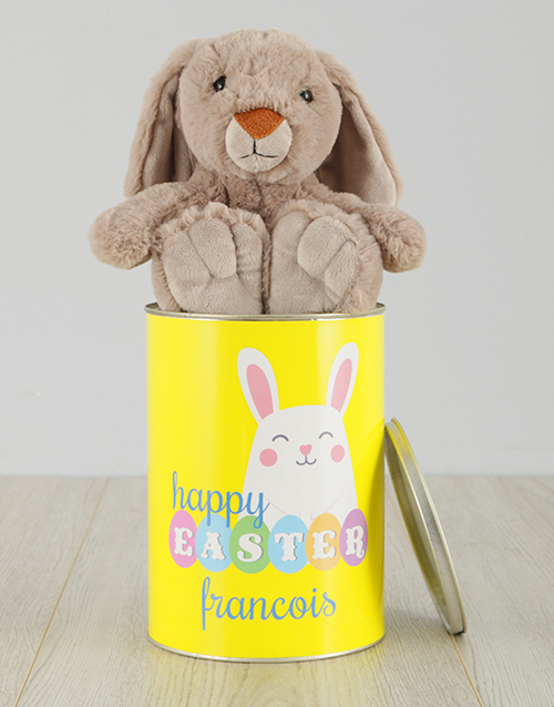 easter: Personalised Happy Easter Bunny Tin!