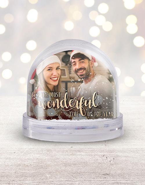 christmas: Personalised Wonderful Time Photo Snow Globe!