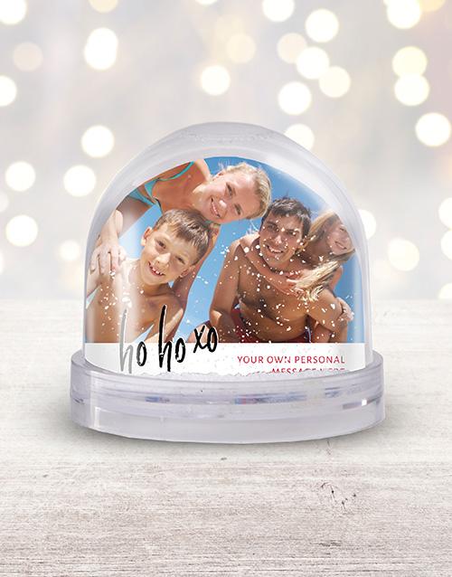 christmas: Personalised Ho Ho Ho Photo Snow Globe!