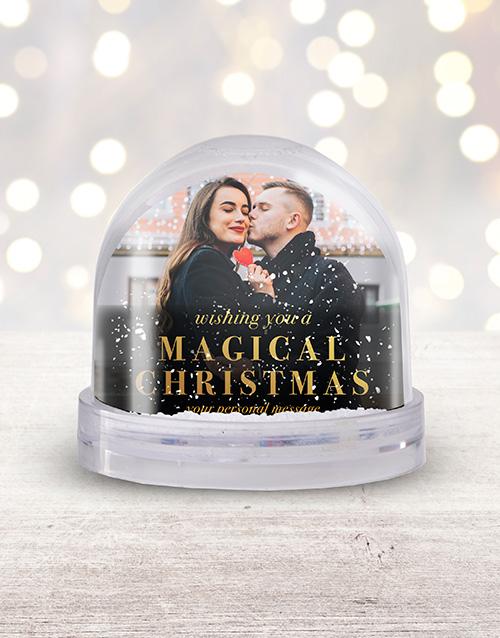 christmas: Personalised Magical Christmas Photo Snow Globe!