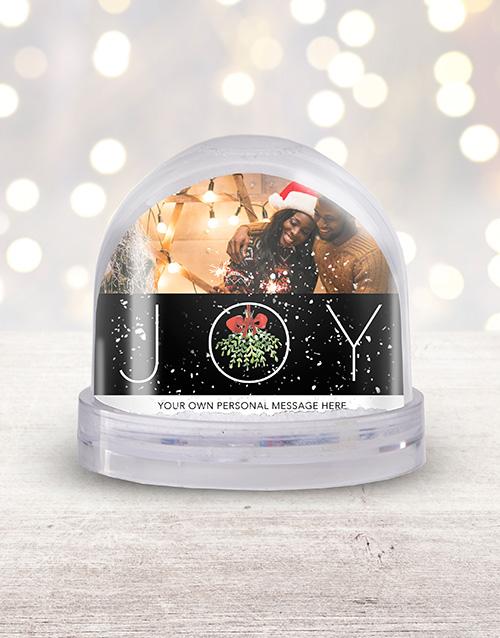 home-decor: Personalised Joy Photo Snow Globe!
