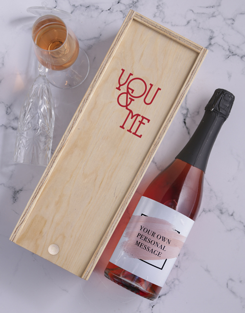 mothers-day: Blush Personalised Wine and Crate!