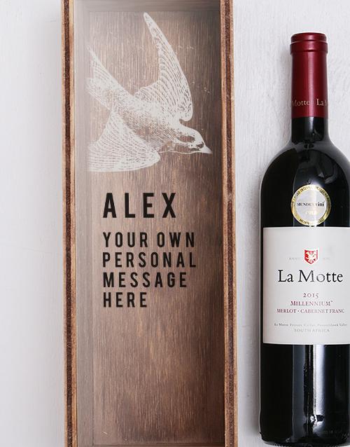 christmas: Personalised Swallow Printed Wine Crate!