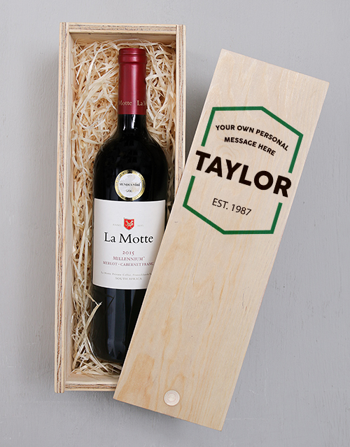 fathers-day: Personalised Hexagon Printed Wine Crate!