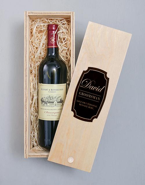 personalised: Personalised Vintage Printed Wine Crate!