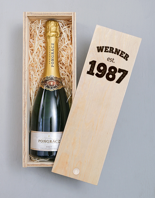 gifts: Personalised Established Printed Wine Crate!