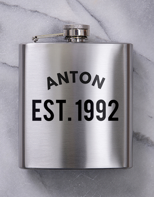 personalised: Personalised Established Hipflask!